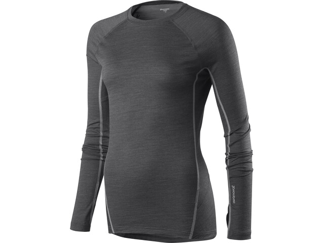 Houdini Airborn Crew T-shirt à manches longues Femme, bleached black